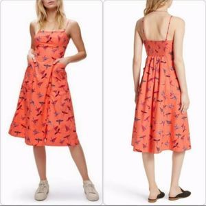 Free People sunshine of your love Parrot Dress